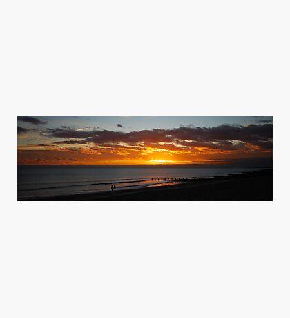 Sunset walk on the beach Photographic Print
