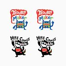 Stickers - Lotsa Trouble Makers by Andi Bird
