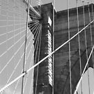 Brooklyn Bridge Cables by RodriguezArts