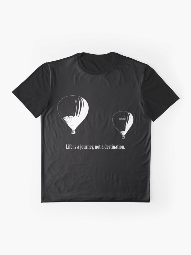 Alternate view of Balloon - Life is a jouney, not a destination (w) Graphic T-Shirt