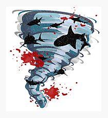 Shark Tornado - Science Fiction Shark Movie - Shark Attack - Shark Tornado Oh Hell No - Sharks! Photographic Print