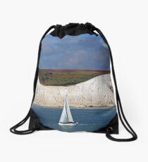 White Cliffs Of Dover Drawstring Bag