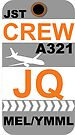 JQ A321 Crew Melbourne by AvGeekCentral