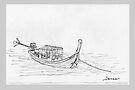 Thailand - Long tail passenger boat by James Lewis Hamilton