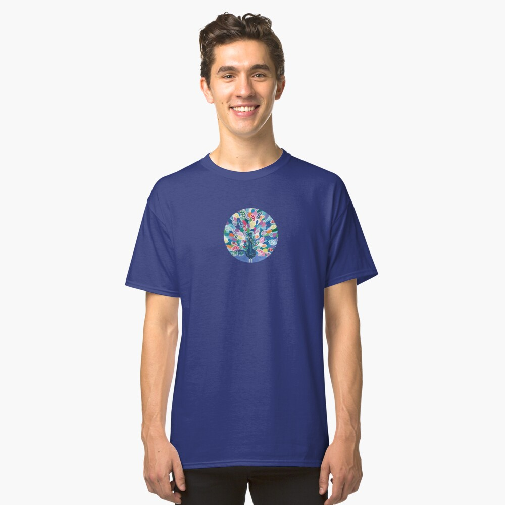 Rainbow Peacock Classic T-Shirt