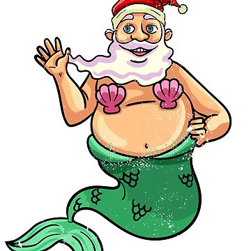 santa mermaid by 8fiveone4