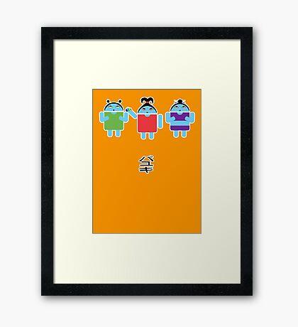Droidarmy: Fruity Oaty Droids Framed Print