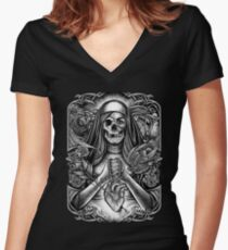 Winya No.7 Women's Fitted V-Neck T-Shirt