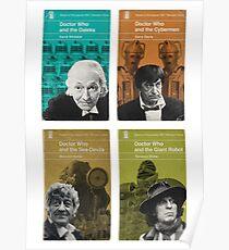 Doctor Who novels Penguin style Poster