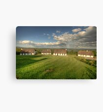 Corofin Thatched Cottages Canvas Print