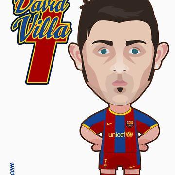 David Villa FC Barcelona by alexsantalo