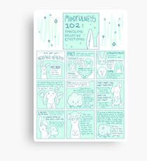 Let's Get You Mentally Healthy: Mindfulness 102 Bunny Comic Canvas Print