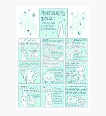 Lassen Sie uns geistig gesund werden: Achtsamkeit 102 Bunny Comic Fotodruck