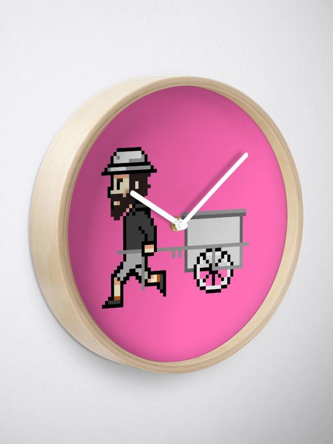 Alternative Ansicht von The Longest Pixel (pink) Uhr