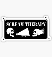 Scream Therapy - dark Sticker
