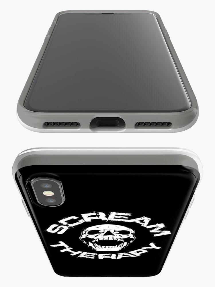 Alternative Ansicht von Scream Therapy - cross eyed skull white iPhone-Hülle & Cover