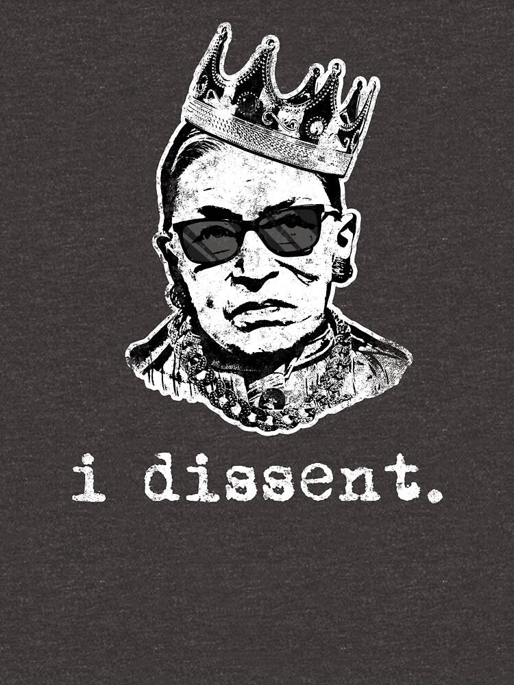 Ich widerspreche Ruth Bader Ginsburg Monochrome T-Shirt von Clort