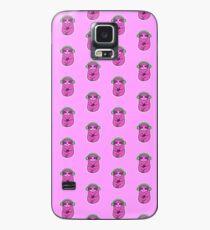 Glückliches rosa Sloth Musik hören Hülle & Klebefolie für Samsung Galaxy