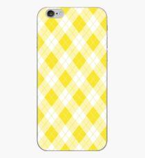 Acid Lemon Gelb und Weiß Large Argyll Plaid Check iPhone-Hülle & Cover