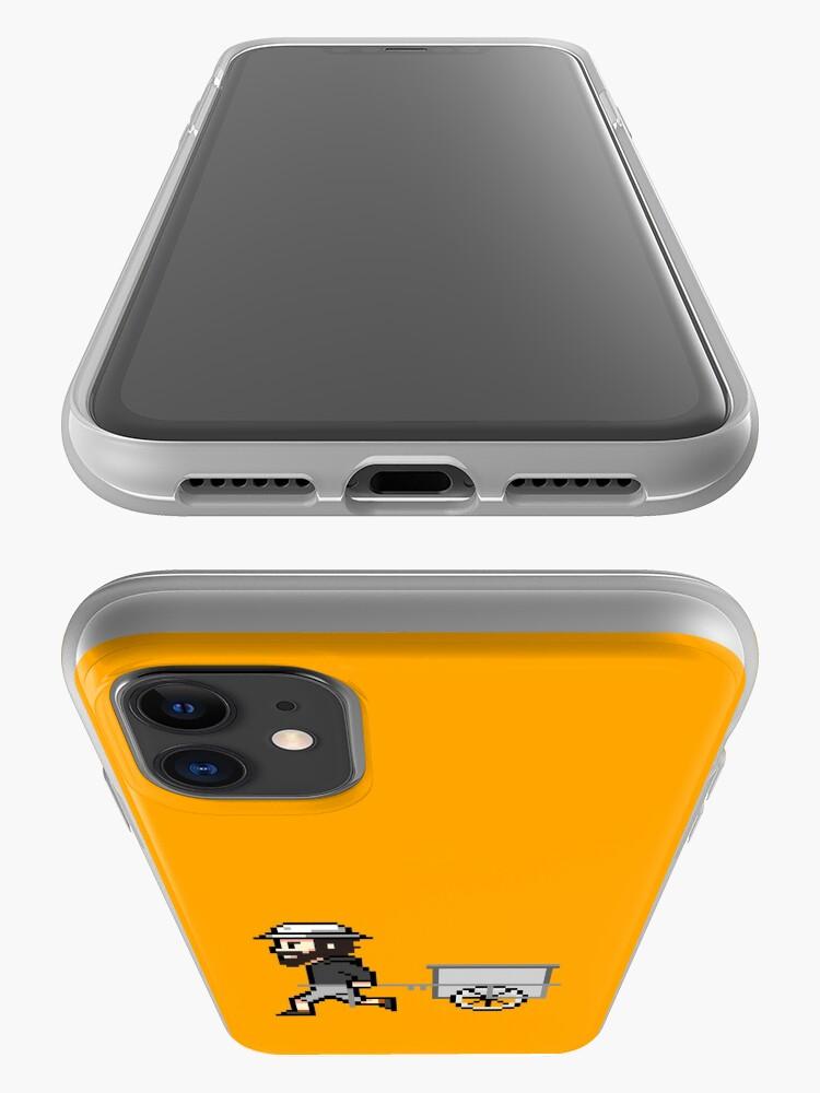 Alternative Ansicht von The Longest Pixel (orange) iPhone-Hülle & Cover