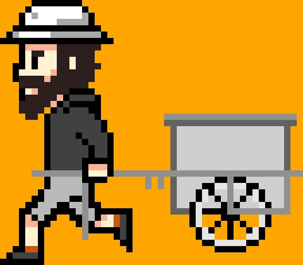 The Longest Pixel (orange) von TheLongestWay