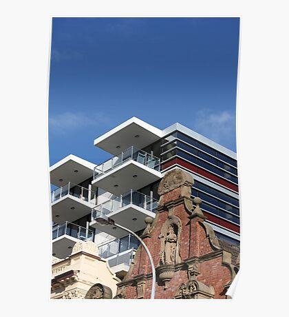 Architectural Contrasts Poster