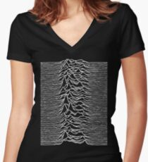 Unknown Pleasures - Joy Division Women's Fitted V-Neck T-Shirt