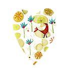 Red Bird Heart by MerryCox-Art