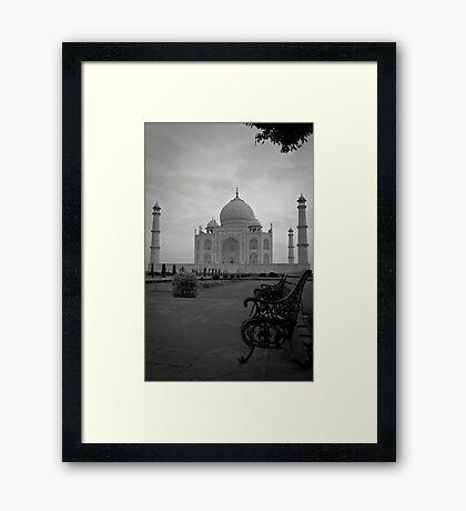 Taj Mahal Bench Framed Print