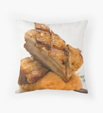 Pork Belly - Food Photography Throw Pillow