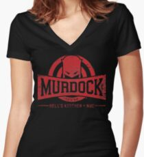 Murdock Gym (Vintage) Women's Fitted V-Neck T-Shirt