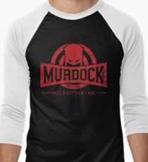 Murdock Gym (Vintage) Men's Baseball ¾ T-Shirt