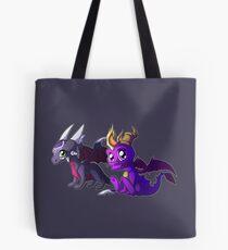 Chibi Spyro and Cynder Tote Bag