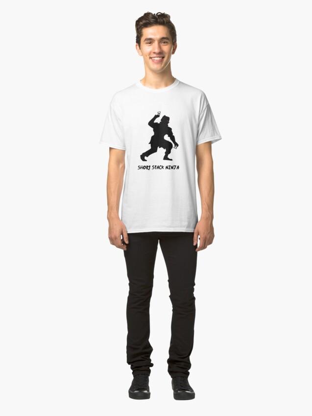 Alternate view of Short Stack Ninja Classic T-Shirt