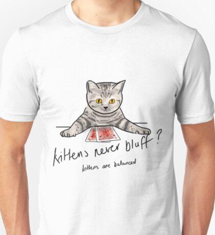 Bluffing Poker Kitten  T-Shirt