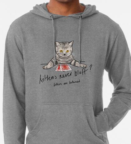 Bluffing Poker Kitten  Lightweight Hoodie