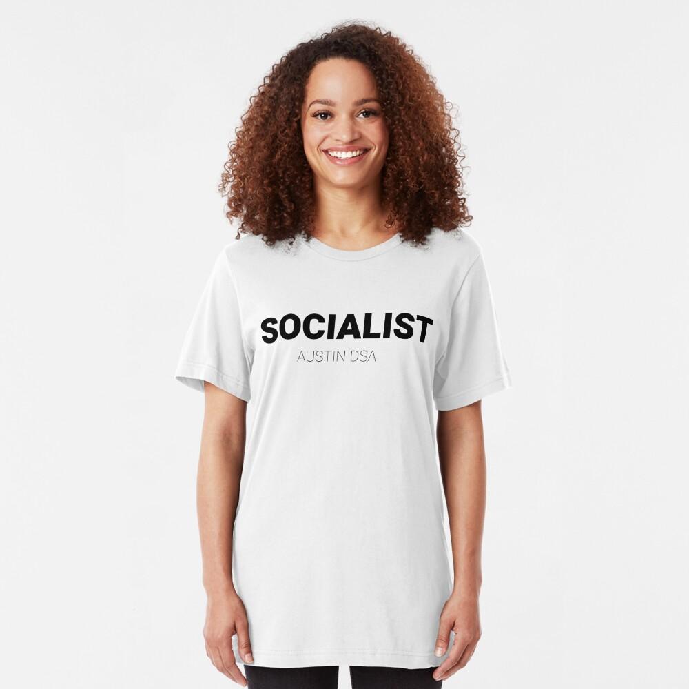 SOCIALIST — Austin DSA  Slim Fit T-Shirt