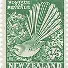 Fantail - NZ stamp large by jennyjeffries
