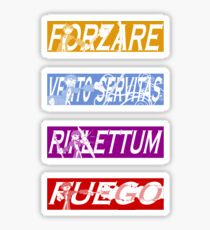 Dresden Files - Spells Sticker Pack (Color) Sticker