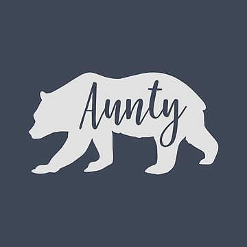Country Style Aunty Bear Silhouette Fun Design by Andrewkgolf