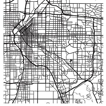 Denver CO Minimalist City Street Map Dark Design by Andrewkgolf