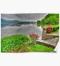 Rainy Spring at the Lake Poster
