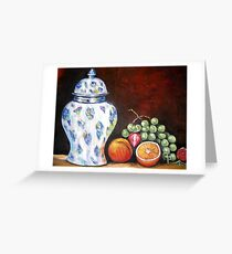 Ginger Jar Still Life Greeting Card