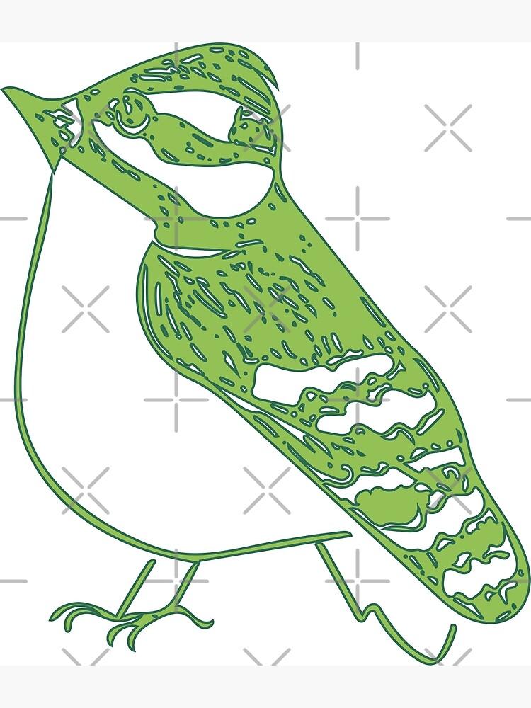 Green Bird by fruitfulart