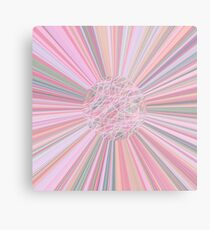 Pastel Planet Burst  Design Gift Metal Print