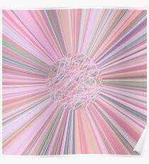Pastel Planet Burst  Design Gift Poster