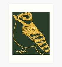 Gold Pretty Bird Art Print