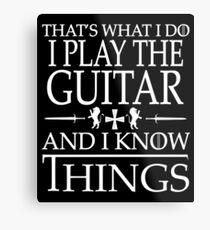 Guitar Players Smart Gift Metal Print