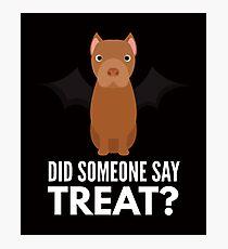 American Pitbull Terrier Halloween Trick or Treat Photographic Print