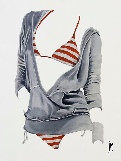 """""""Sexy Clothing lV"""" Acrylic on Canvas by John D Moulton"""